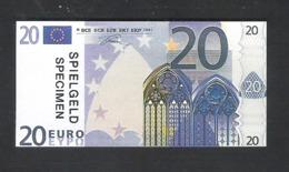 BANKBILJET 20 EURO - SPEELGELD  - 8 Cm X 4 Cm  (BB 30) - [ 8] Finti & Campioni