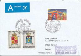 Belgium Cover Sent To Sweden Tienen 11-11-2001 Christmas Stamp And Other - Belgique