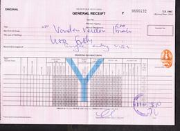 "UGANDA Impressed Duty Revenue Stamp ""Validity B"" On General 2010 Receipt OUGANDA Timbre Fiscal - Oeganda (1962-...)"