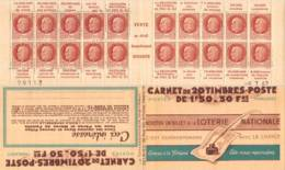 FRANCE - Carnet Série 64 Date 8.7.42 Loterie Nationale Neuf ** - 1f50 Pétain Bersier - N° Y&T 512 C2 Ou N° Maury 250 - Booklets