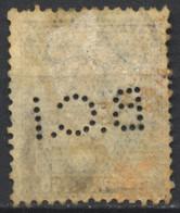Regno D'Italia, 1927, Perfin, B.C.I, Su Vittorio Emanuele III, Parmeggiani 50c., Usato - 1900-44 Vittorio Emanuele III