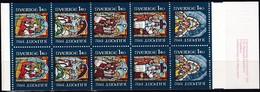 Schweden, 1982, Mi. Nr. 1209/13 MH 90, MNH **, Weihnachten. Glasfenster - Unused Stamps