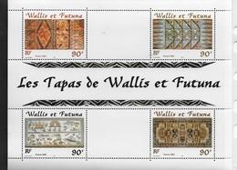 2001 Wallis Et Futuna  N° BF 10  Nf** MNH . Artisanat. Les Tapas. - Hojas Y Bloques