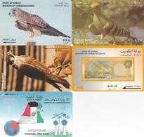 5 Télécartes KOWEIT - Koeweit
