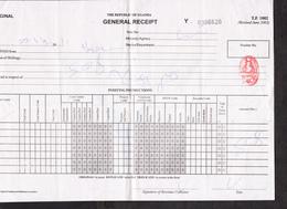 "UGANDA Impressed Duty Revenue Stamp ""Validity B"" On General 2011 Receipt OUGANDA Timbre Fiscal - Oeganda (1962-...)"