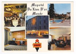 48 Mende Mapotel Du Lion D'Or N°408 Hôtel Tél : 6.46 Et 6.47 Piscine Télé Ancienne Renault 4L Ford Taunus - Mende