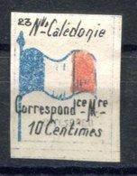 RC 17145 NOUVELLE CALÉDONIE VIGNETTE DE FRANCHISE MILITAIRE N°23 NEUF (*) TB MNG VF - New Caledonia