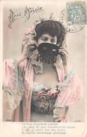 CPA Fantaisie - Femme - Portrait - Beau Masque - Loup - Frauen