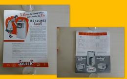 Cuisinex SAUTER, PUB  Vers 1950 Format 21x27 Environ ; Ref 1594 ; GR 02 - Pubblicitari