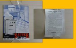 Cuisinus SAUTER, PUB  Vers 1950 Format 14x21 Environ ; Ref 1598 ; GR 02 - Pubblicitari