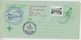 South Africa 1986 Polarstern Krankentransport By Heli / Aerogramme (47355) - Poolvluchten