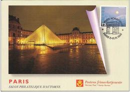 Norway Exhibition Card 1996 Salon Philatelique D'Automne, Paris - Louvre With Pyramid -  Card - Briefmarkenausstellungen