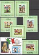 XX254 MANAMA FOOTBALL WORLD CUP HISTORY MICHEL 33 EURO 7BL MNH - Coupe Du Monde
