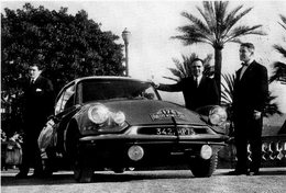 Citroen ID19  -  Les Vainqueurs Rallye Monte-Carlo 1959  - Paul Coltelloni - CPM - Rally Racing