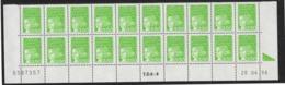 BAS DE FEUILLE MARIANNE DE LUQUET 3.50Frs.  2 BARRES DE PHOSPHO. Coin Daté 28.04.98 - 1990-1999