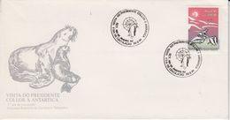 Brazil 1991 Visit President Antarctica Base Commandante Ferraz 1v FDC (47361) - Briefmarken