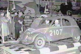 Citroen 2CV  -  Rallye Mille Miglia 1954  -  Pilotes: Labes/De Failly  -  CPM - Rally