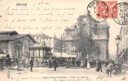 54-NANCY- EGLISE SAINT-SEBASTIEN, PLACE DU MARCHE - Nancy
