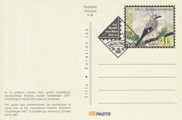 Latvia, 2007, Postal Stationery, Post Card, Bird, Birds, Cancelled. - Altri
