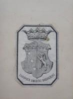 Ex-libris Illustré Héraldique Italien XIXème - Ludovico AMORINI-BOLOGNINI (Bologne-Milan) - Ex-libris