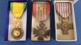 LOT DE 3 MEDAILLES 2ème GUERRE - 1939/1945 - Francia