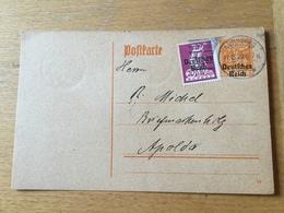 KS2 Deutsches Reich Ganzsache Stationery Entier Postal P 124 Von Nürnberg Nach Apolda - Germany