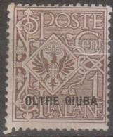 Italia Colonie Oltre Giuba 1925 SaN°1 MNH/** Vedere Scansione - Oltre Giuba