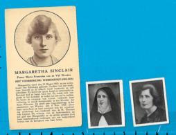 Relic   Reliquia    Z. Margaretha Sinclair   3 Pieces - Devotieprenten