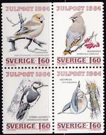 Schweden, 1984, Mi. Nr. 1307/10, MNH **, Weihnachten: Überwinternde Vögel. - Neufs