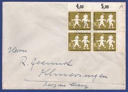 Mehrfachfrankatur MiNr. 282, Eckrand (aa0476) - [7] Federal Republic