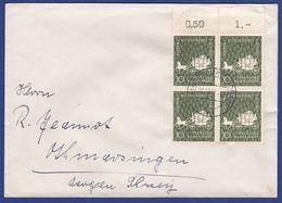 Mehrfachfrankatur MiNr. 280, Bogenrand (aa0477) - [7] Federal Republic