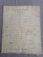 """""""Epitre à Uranie"""" Par Voltaire (1734) - Manuscrits"""