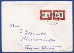 Mehrfachfrankatur MiNr. 382, Bogenrand (aa0481) - Storia Postale