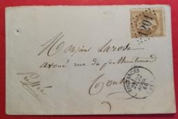 Manche. Enveloppe Avec Gros Chiffre 1201 De Coutances Sur N°28 - 1849-1876: Classic Period