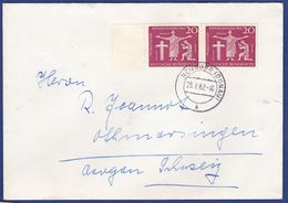 Mehrfachfrankatur MiNr. 381, Bogenrand (aa0484) - Storia Postale