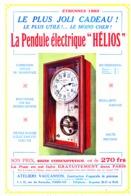 """PUB PENDULES ELECTRIQUE  """" HELIOS  """"  1922  ( 1 ) - Horloges"""