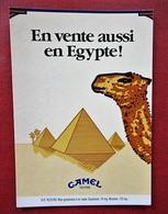 Boomerang - Camel Filters - En Vente Aussi En Egypte - Pyramides, Palmiers - Advertising