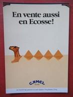 Boomerang - Camel Filters - En Vente Aussi En Ecosse - Pyramides, Monstre Du Loch Ness - Advertising