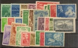 Rep.Cuba  Años Completos 1943/1946 */(*)  Series Completas   NL1176 - Ongebruikt