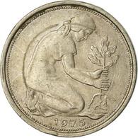 Monnaie, République Fédérale Allemande, 50 Pfennig, 1975, Stuttgart, TTB - [ 7] 1949-… : RFA - Rep. Fed. Alemana