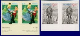 Norge, Norway 2002 Fairy Tales Stamp Booklet Imperf On Top Or Below 4 Values MNH 2004.3005 Askeladden & Great Troll - Fairy Tales, Popular Stories & Legends
