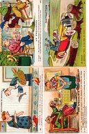Humour : Lot De 4 Cartes Anciennes G.Artaud - Humor