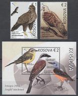 Kosovo 2019 Europa CEPT National Birds Fauna, Set + Block Souvenir Sheet MNH - Oiseaux