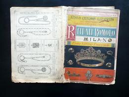 Catalogo Rituali Romolo Milano Oreficerie Corso Vittorio Emanuele Maggio 1887 - Vieux Papiers