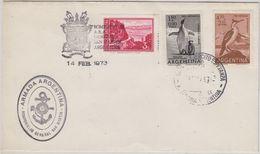 Argentina 1973 Heli Flight From Base Esperanza Tot Ara. San Martin 14 Febr. 73  (47369) - Voli Polari