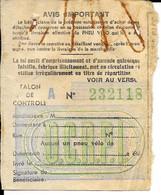 Coupon De Restriction -  PNEU DE VELO - - Vieux Papiers