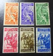 &25& VATICANO MICHEL 45/50, YVERT 66/71 FINE USED. SEE PICTURES. - Vatican