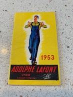 CALENDRIER PUBLICITAIRE Adolphe LAFONT ( Vetement De Travail )  De Poche 1953 - Calendarios