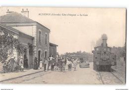 CPA 33 Audenge La Gare Et Le Train Tramway - Francia