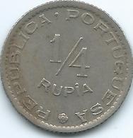 India - Portuguese - 1947 -¼ Rupia - KM25 - India